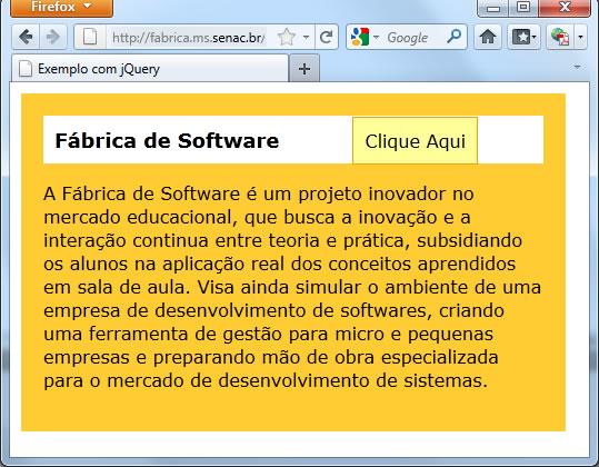 Exemplo jQuery