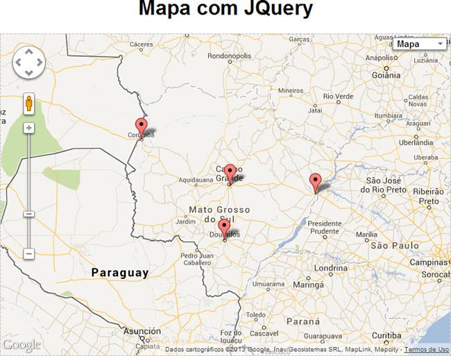 gmap3 exemplo marcadores